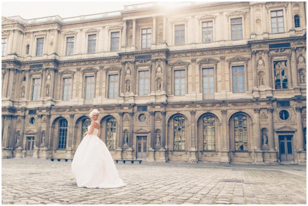 Blush intimate wedding paris
