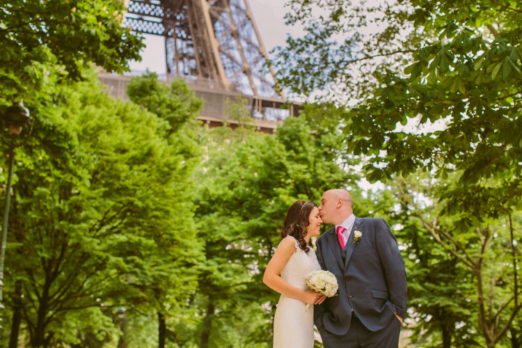 Romantic Eiffel tower wedding