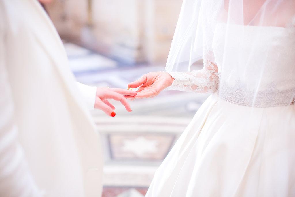 blush wedding paris
